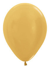 "5"" Metallic Gold Latex Balloon"