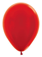 "5"" Metallic Red Latex Balloon"