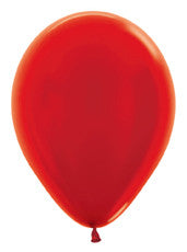 "11"" Metallic Red Latex Balloon"