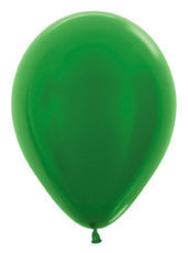 "5"" Metallic Green Latex Balloon"