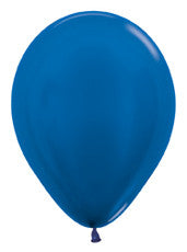 "11"" Metallic Blue Latex Balloon"