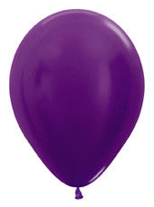 "11"" Metallic Violet Latex Balloon"