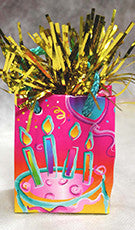 Birthday Cake Mini-Tote Foil Balloon Weight