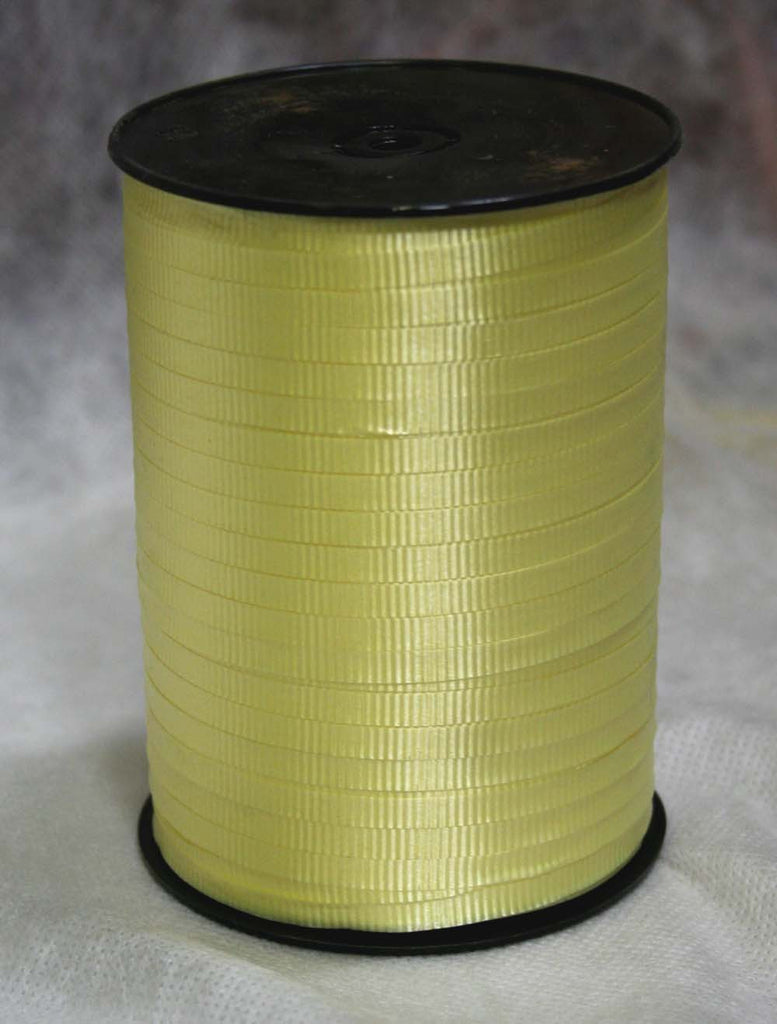 Pastel Yellow Curling Ribbon
