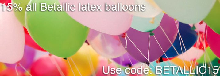 15% of all Betallic latex balloons