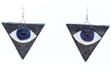 Load image into Gallery viewer, Scrap Leather Earring: Eye Logo