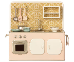 Retro Metal Kitchen, Powder Pink