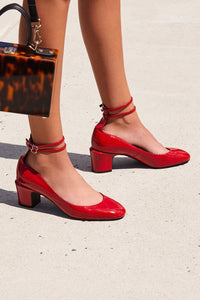 Lana Red Block Heel