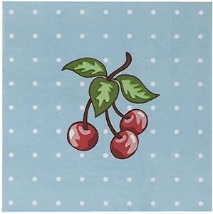 Blue Cherry Paper Napkins (20)