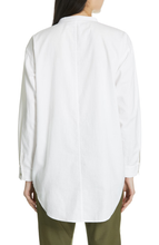 Load image into Gallery viewer, Ivory Soft Organic Cotton Twill Mandarin Collar Shirtdress