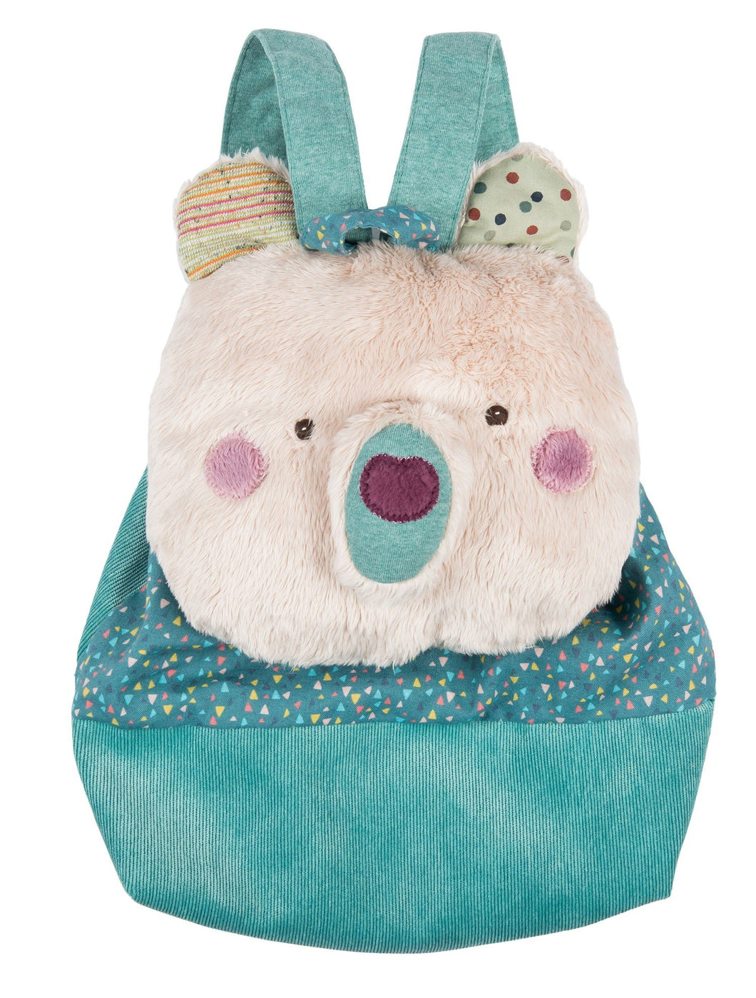 Les Jolis Trop Beaux Cream Bear Backpack