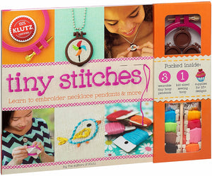 Tiny Stitches: Learn to Embroider Necklace Pendants & More