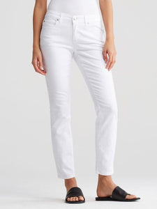 Eileen Fisher White Slim Ankle Jean