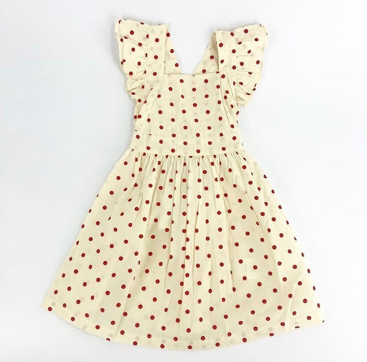 helloSimone Red Polka Dot Laura Dress