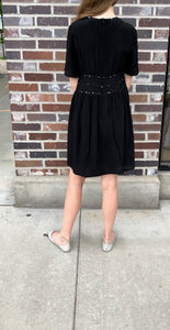 J*ALL Black Dress with Star Accents