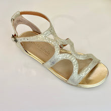 Load image into Gallery viewer, Gentle Souls Light Gold Sandal