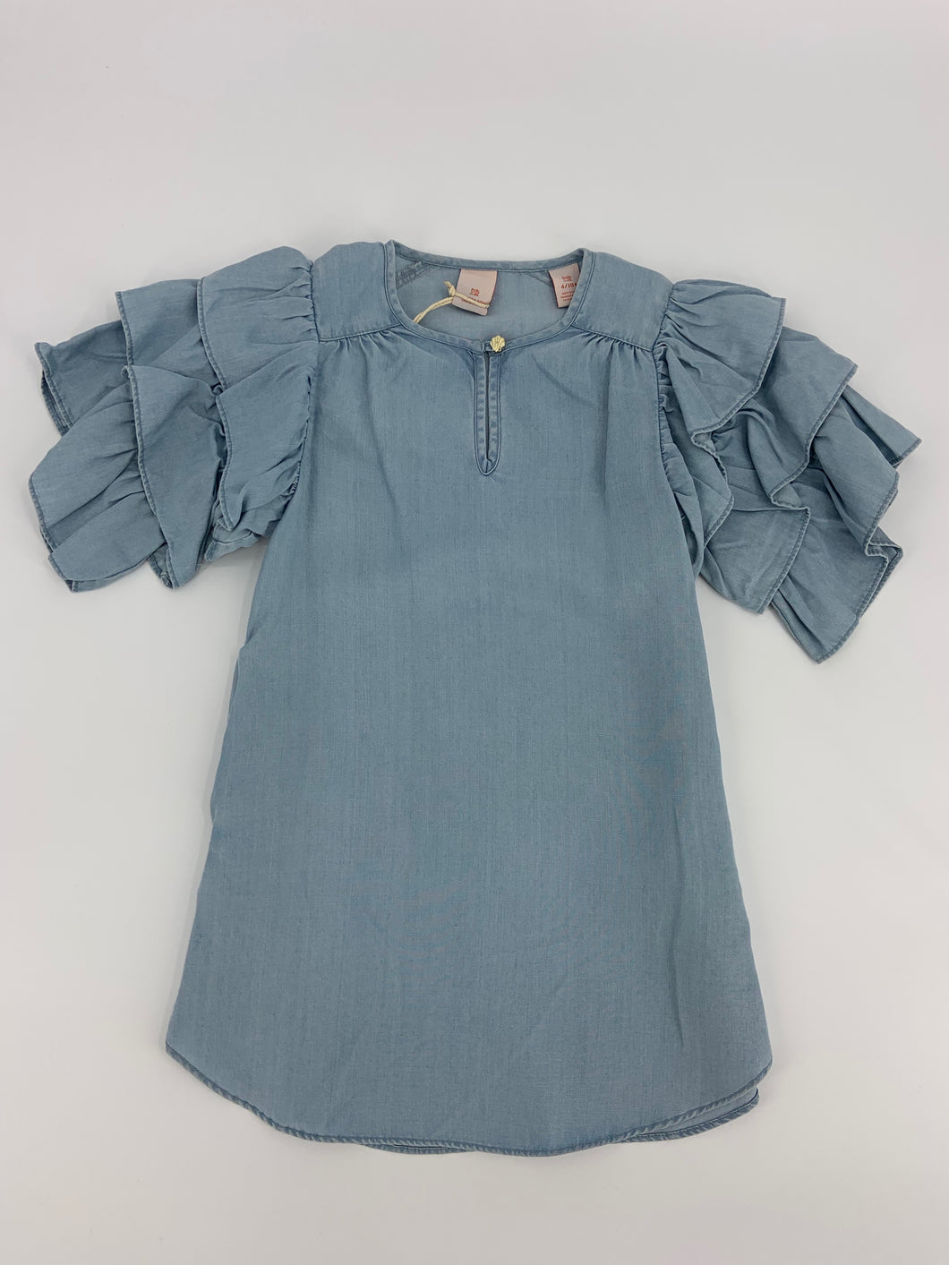 Scotch R'Belle Chambray Ruffle Sleeve Dress