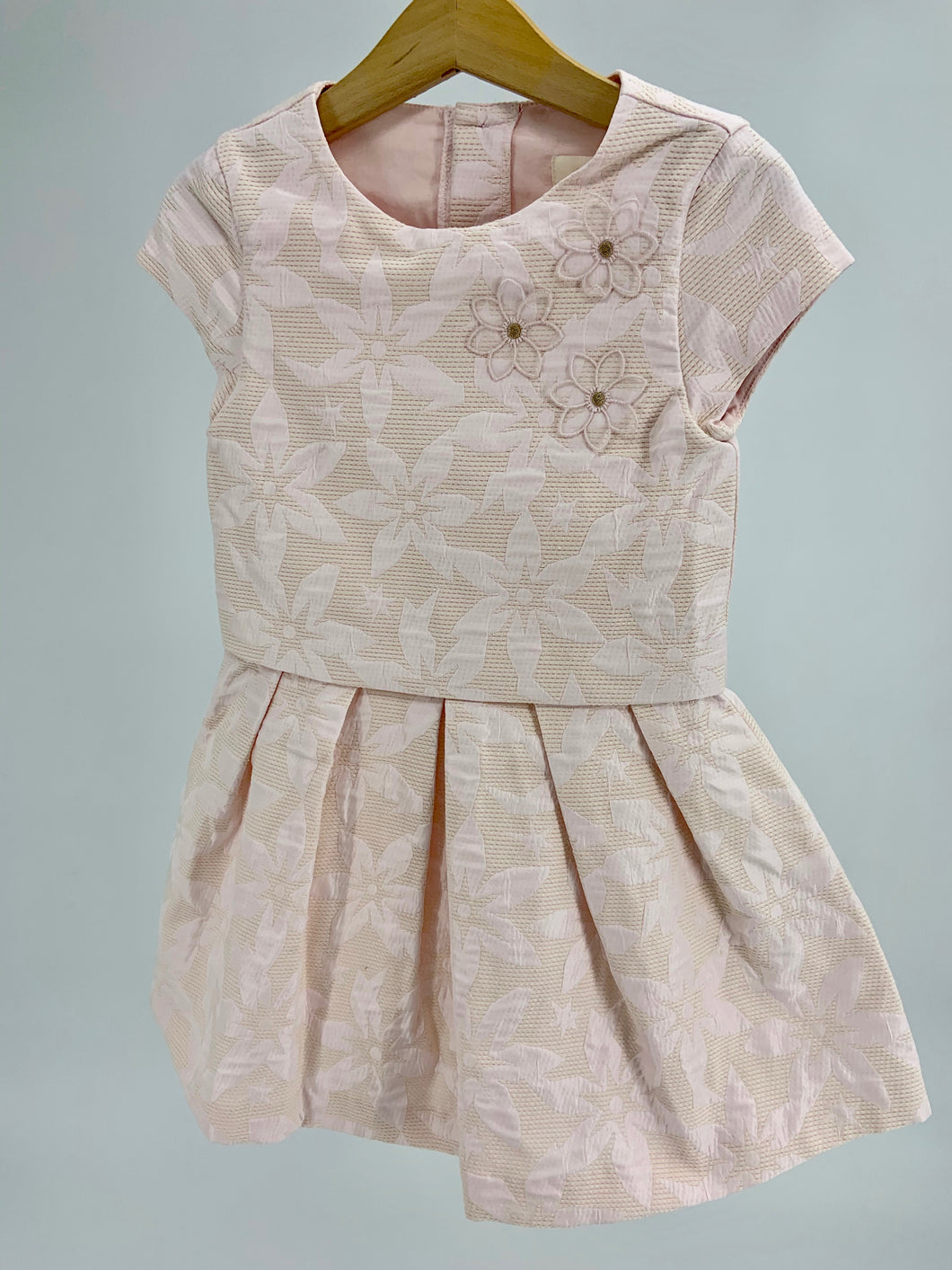 Catimini Light Pink Floral Embroidery Formal Dress