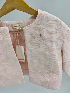 Catimini Light Pink Floral Embroidery Formal Jacket