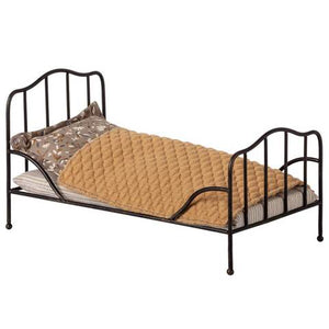 Anthracite Vintage Metal Bed, Mini
