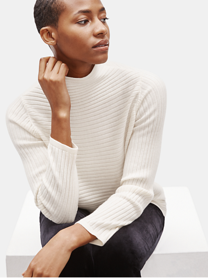 EILEEN FISHER - Merino Funnel Neck Top