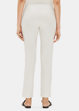 Load image into Gallery viewer, Eileen Fisher Bone Slim Stretch Crepe Ankle Pant with Thin Yolk