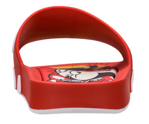 Melissa Beach Slide + Mickey and Friends - Red Off-White