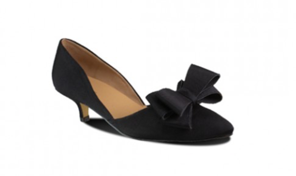 Bow Bow D'Orsay Black Heel