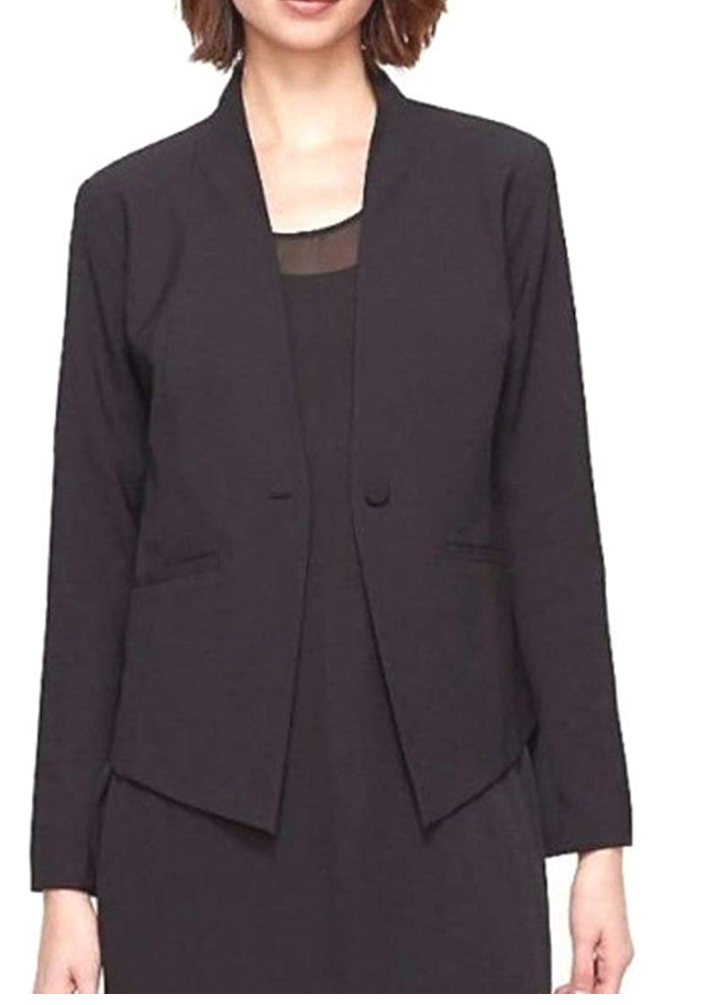 Black Hi Back Fitted Blazer Jacket