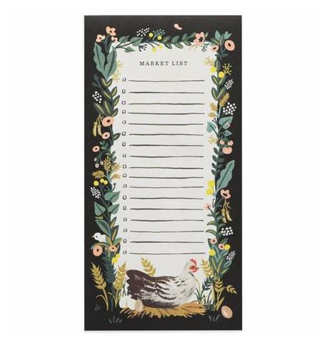 Country Farm Market List Notepad with Magnet