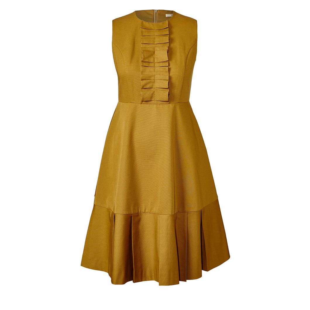 Orla Kiely Ochre Ottoman Erica Sleeveless Dress