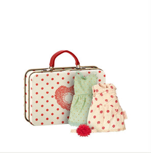 Maileg Polka Dot Suitcase with 2 Outfits