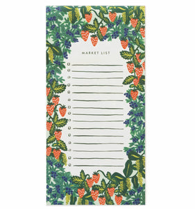 Strawberry Fields Market List Notepad with Magnet