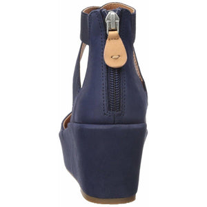 Nyssa Navy Wedge with Elastic Sandal