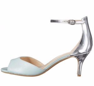 Hazel Light Blue Silver Heel