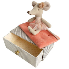 Load image into Gallery viewer, Little Sister Dancing Mouse in a Daybed