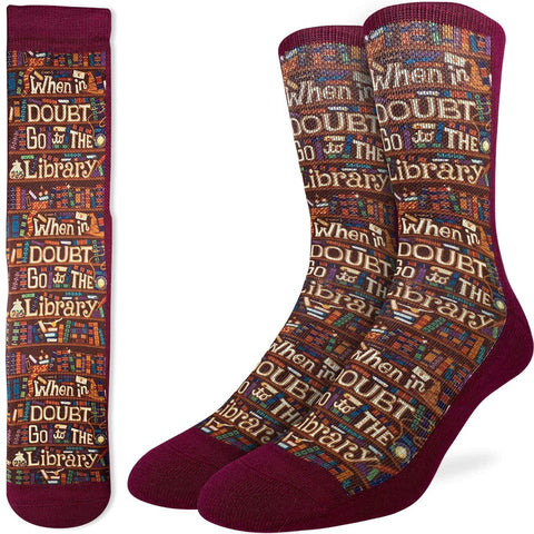 Go The Library Mens Socks