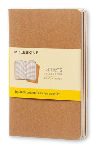 Moleskine Cahiers Collection Kraft Squared set/3 per size