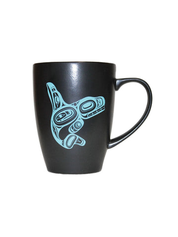 Native Northwest Black Ceramic Mug