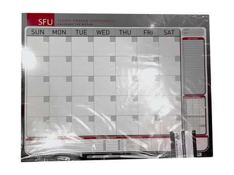 Exclusive Pricing SFU Dry Erase Wall Calendar