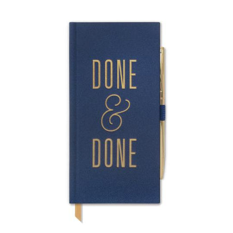 Done & Done Skinny Journal w/pen