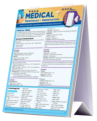 Medical Terminology and Abbreviations