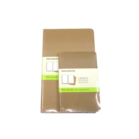 Moleskine Cahiers Collection Kraft Plain set/3 per size