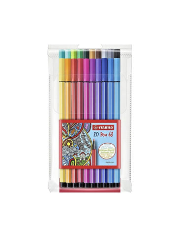 Stabilo Fineliners Point 68 s/20 Assorted Colours