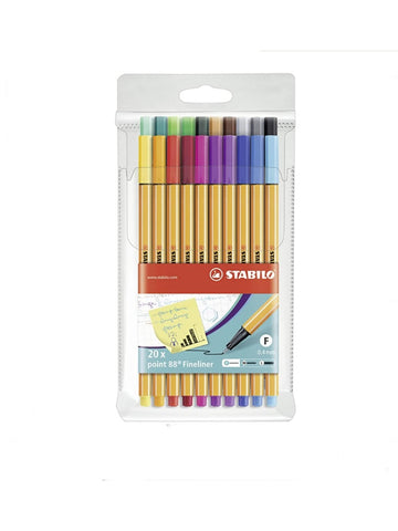 Stabilo Fineliners Point 88 s/20 Assorted Colours