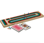 Cribbage Board - 3 colour with cards