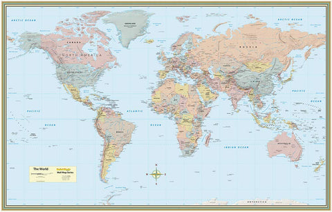 World Map - Laminated