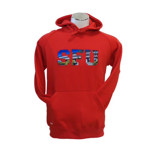 SFU AQ Sublimation Hoodie Red