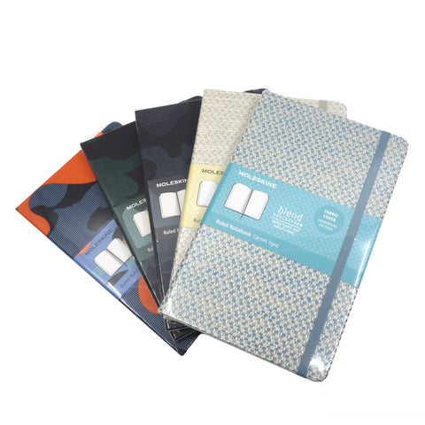 Moleskine Blend Large Ruled Fabric Cover