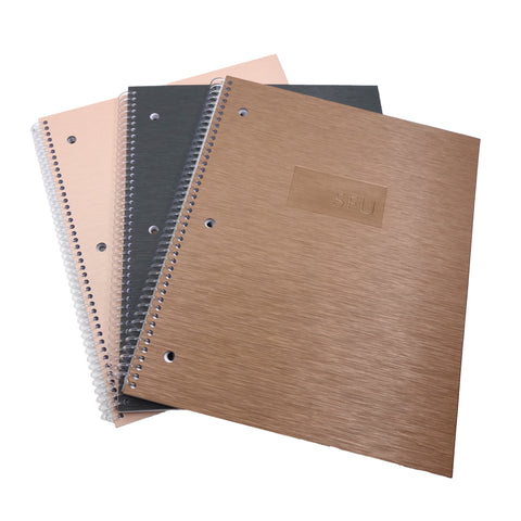 SFU Brush Steel Recycled Coil Notebook Lined 1,2 or 3 Subject